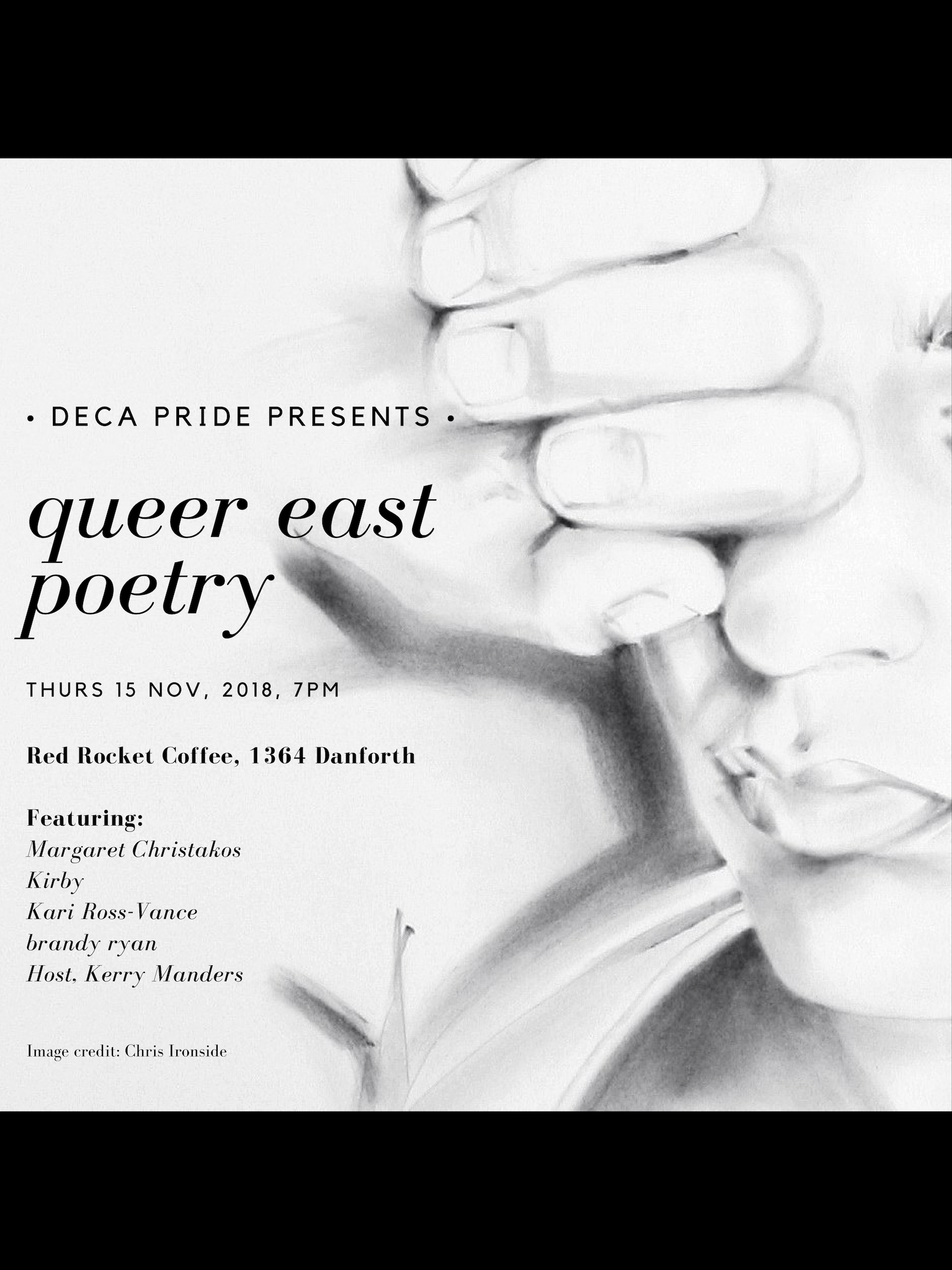 queer east poetry reading, poster (Nov. 2018)